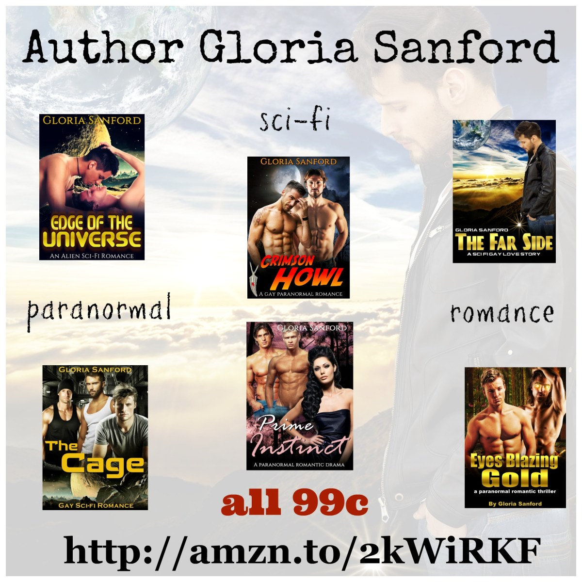 Gloria Sanford – Sci-fi and Paranormal Romance for #99c