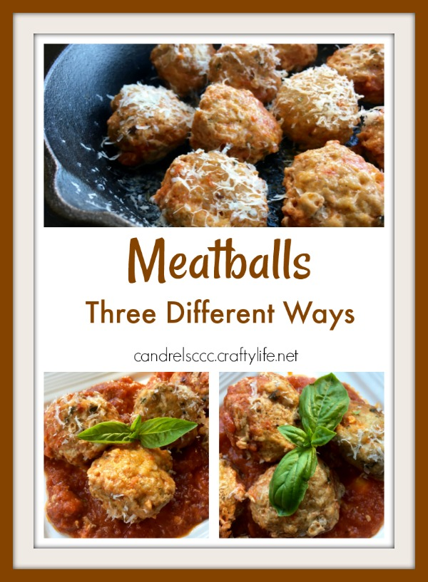 Meatballs are always great for a meal or for an appetizer at a party. Here are three new ways to try!