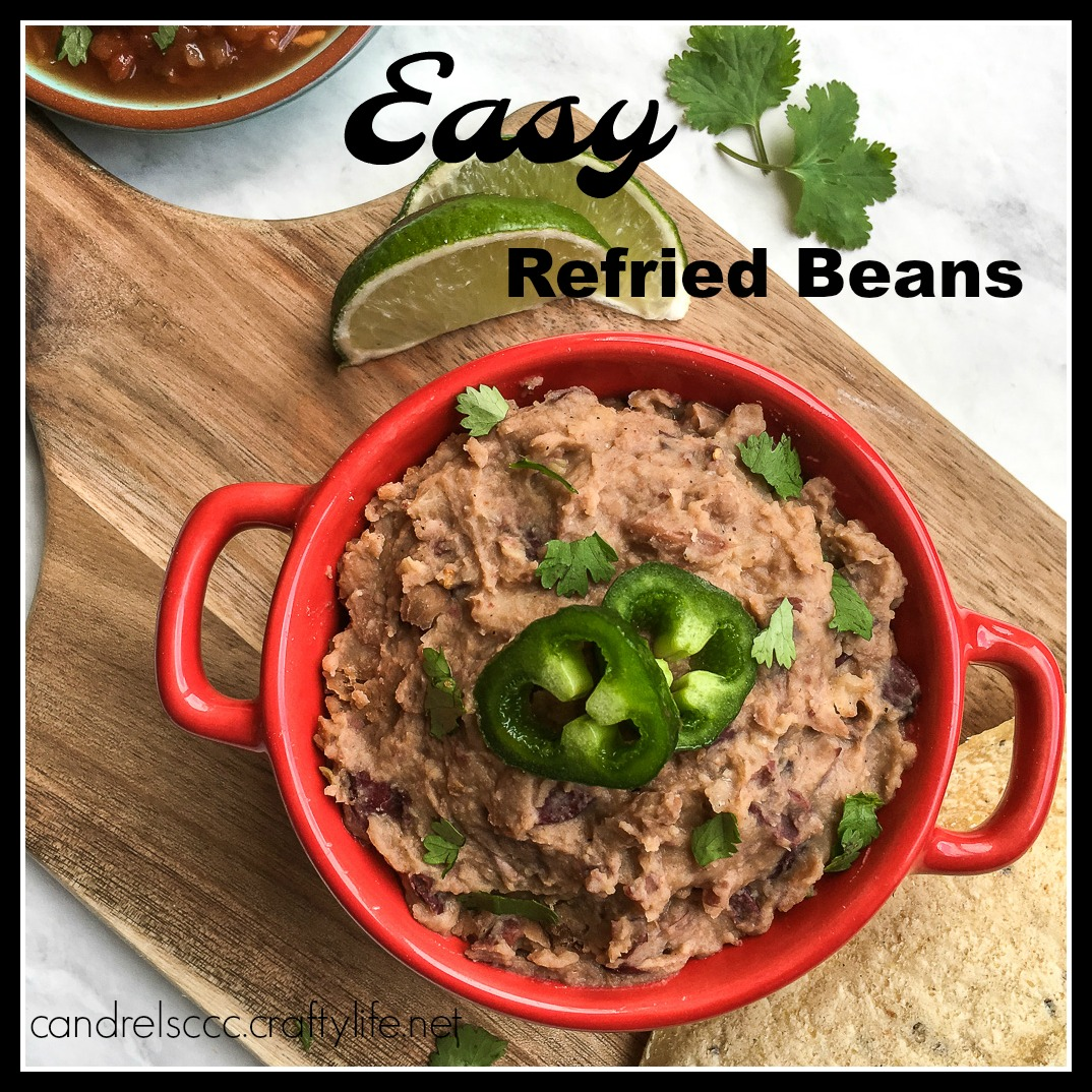 Easy Refried Beans with Pinto and Kidney Beans