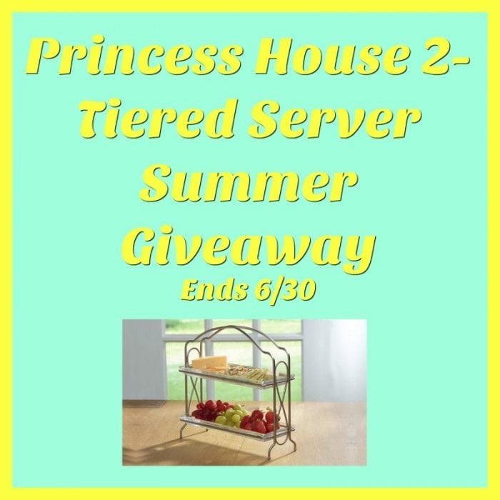 Princess House 2-Tiered Server #Giveaway Ends 6/30