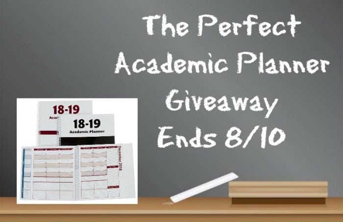 The Perfect Academic Planner #Giveaway Ends 8/10 #SMGN