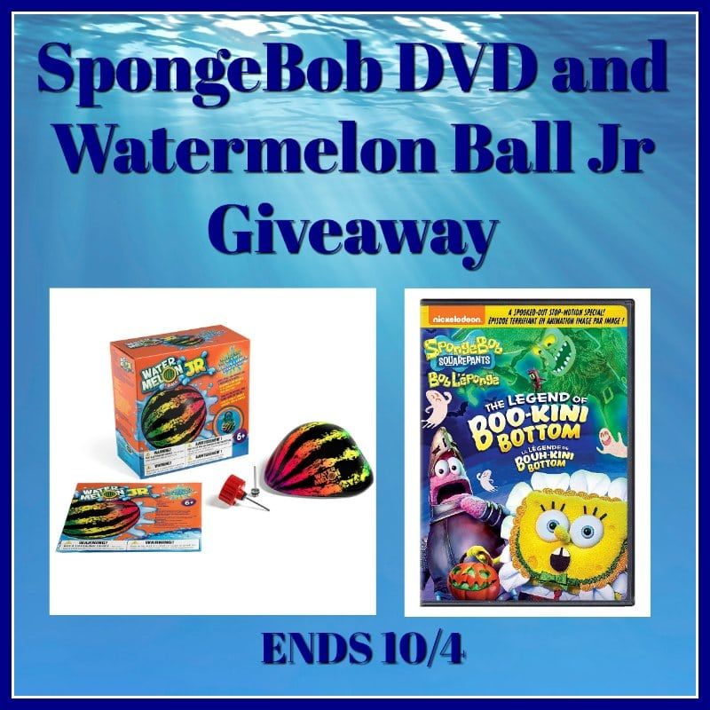 Spongebob DVD and Watermelon Ball Jr #Giveaway Ends 10/4