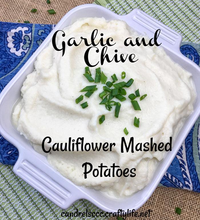 Garlic and Chive Cauliflower Mashed Potatoes Recipe