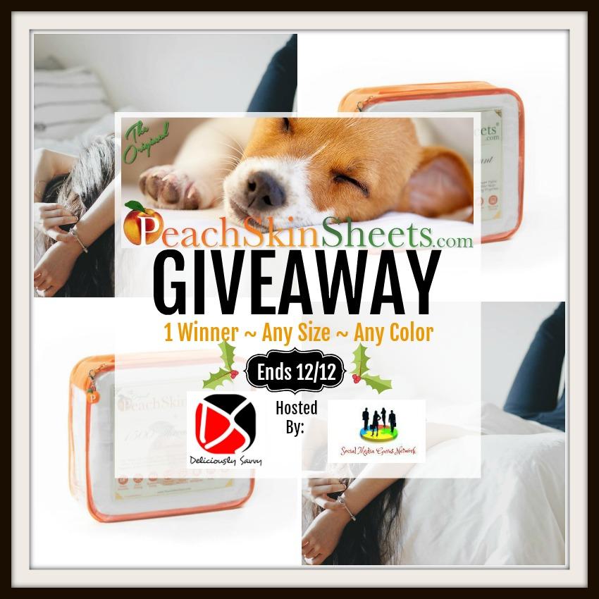 PeachSkinSheets.com #Giveaway Ends 12/12