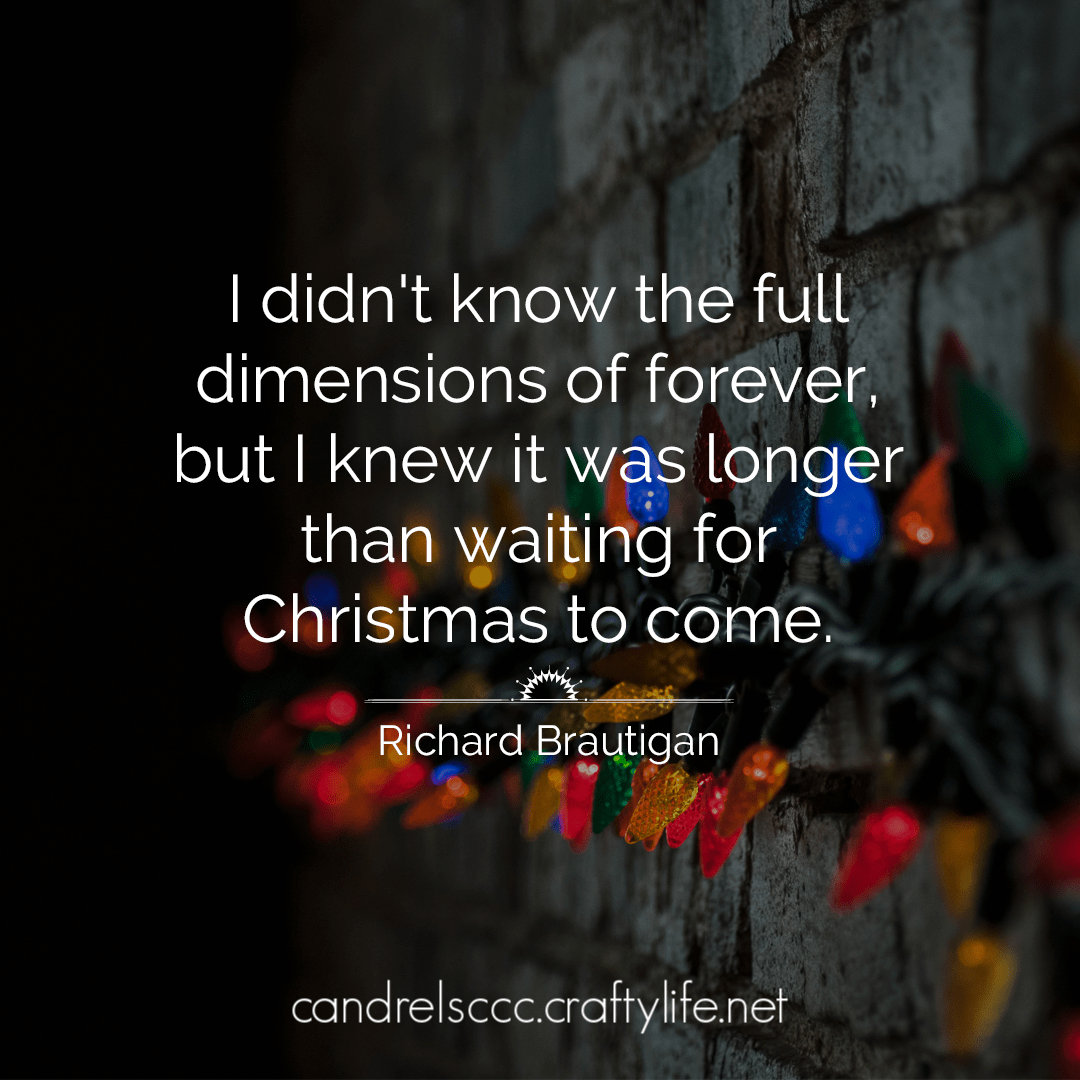 I didn't know the full dimensions of forever…