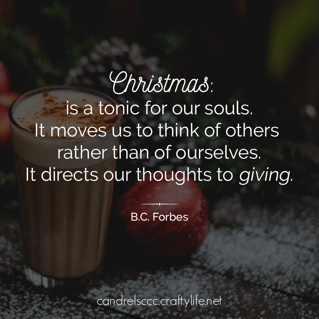 Christmas is a tonic for our souls