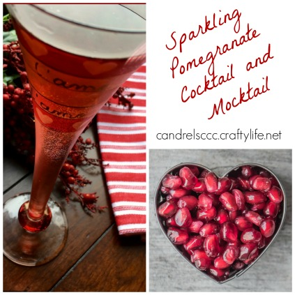 Enjoy a Sparkling Pomegranate Cocktail and Mocktail!