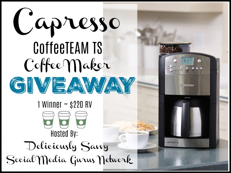 Capresso CoffeeTEAM TS Coffee Maker Giveaway Ends 6/23 @CapressoTweets @SMGurusNetwork