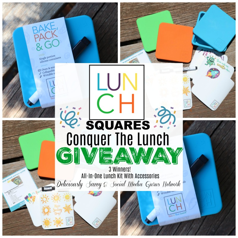 Lunch Squares Conquer the Lunch #Giveaway with 3 Winners @Lunchsq @SMGurusNetwork Ends 8/12