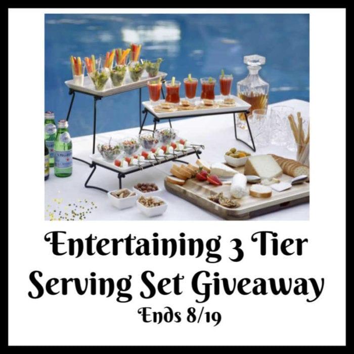 Entertaining 3-Tier Serving Set #Giveaway Ends 8/19 @smartideas4life @las930 @smgurusnetwork