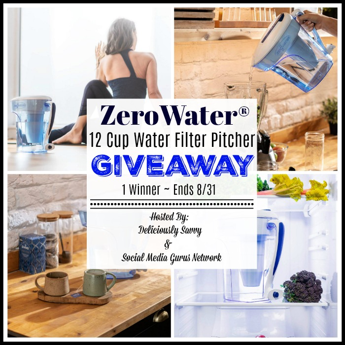 Enter the @ZeroWaterFilter 12-Cup Water Pitcher #Giveaway Ends 8/31 @SMGurusNetwork