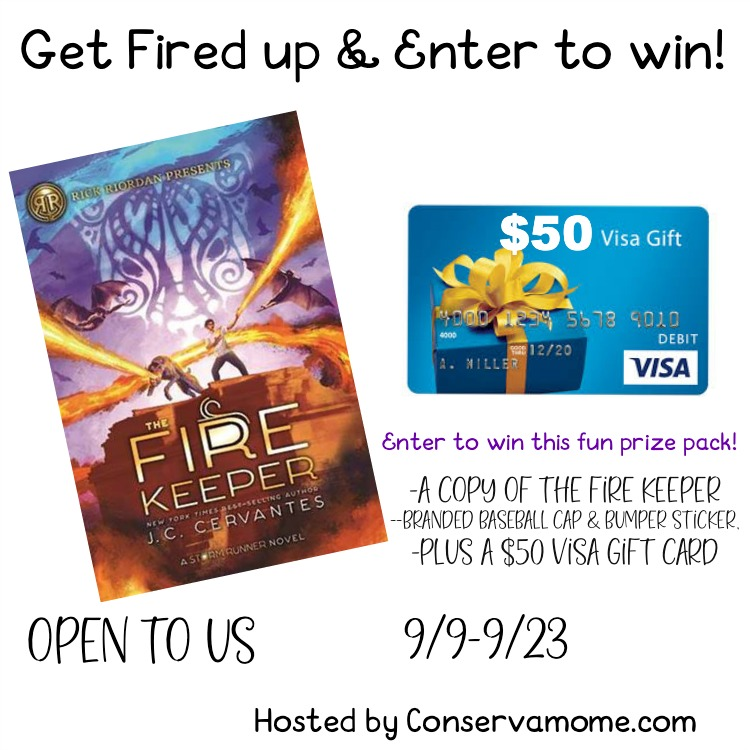 $50 Visa Card & Fire Keeper Book #Giveaway Ends 9/23