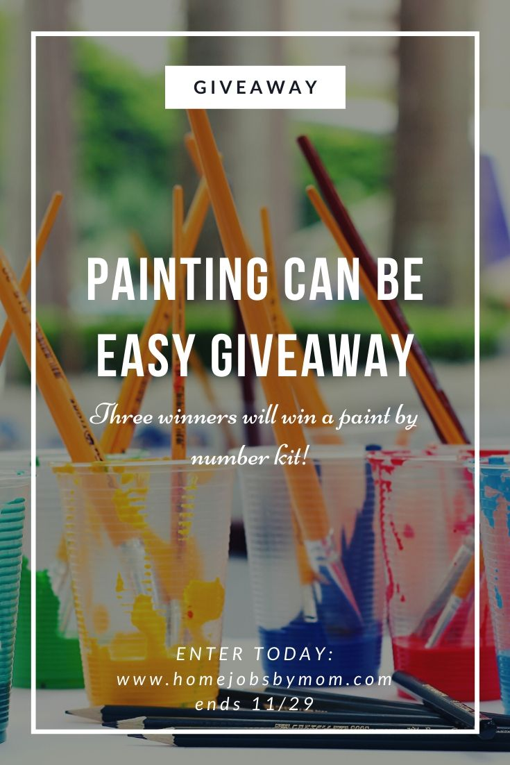 Paint By Number #Giveaway Ends 11/29 3 Winners! #winit @homejobsbymom