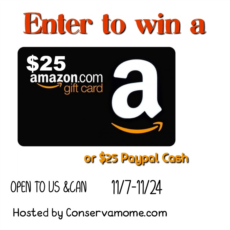 $25 Amazon Gift Card or PayPal #Giveaway Ends 11/24