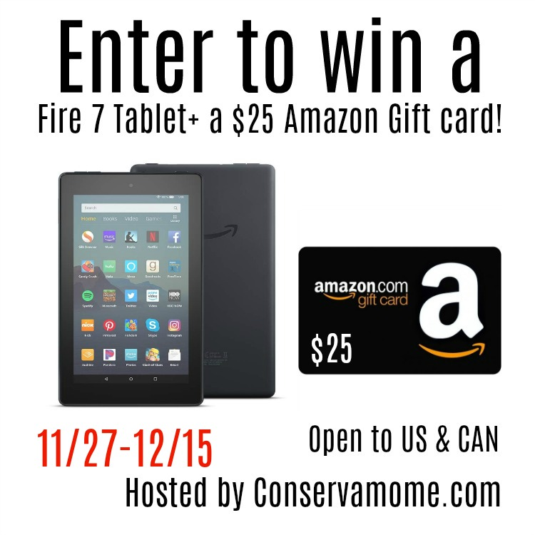 $25 Amazon Gift Card & Kindle Fire #Giveaway Ends 12/15