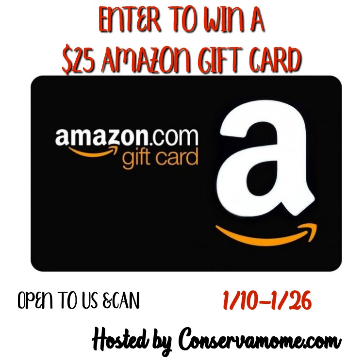January $25 Amazon Gift Card #Giveaway Ends 1/26
