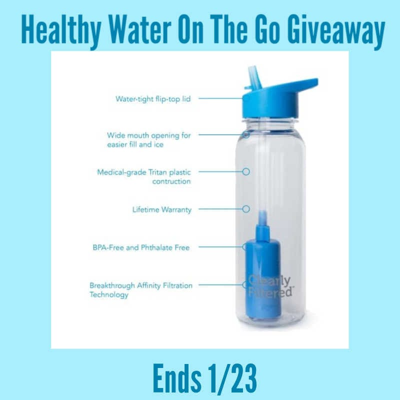 Healthy Water on the Go #Giveaway Ends 1/23 @clearlyfiltered @las930 @SMGurusNetwork