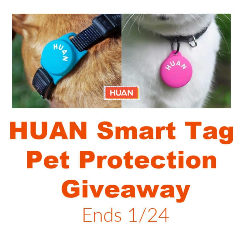 Huan Smart Tag Pet Protection #Giveaway Ends 1/24 @las930 @SMGurusNetwork