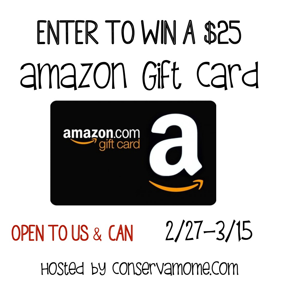 $25 Amazon Gift Card #Giveaway Ends 3/15