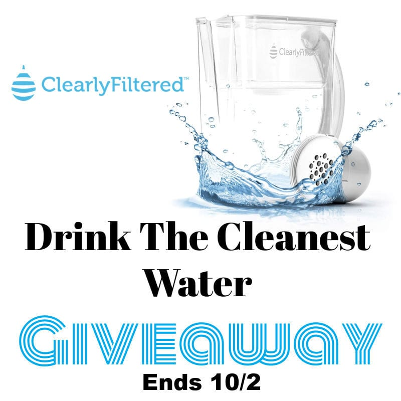 Drink the Cleanest Water #Giveaway Ends 10/2 @clearlyfiltered @las930
