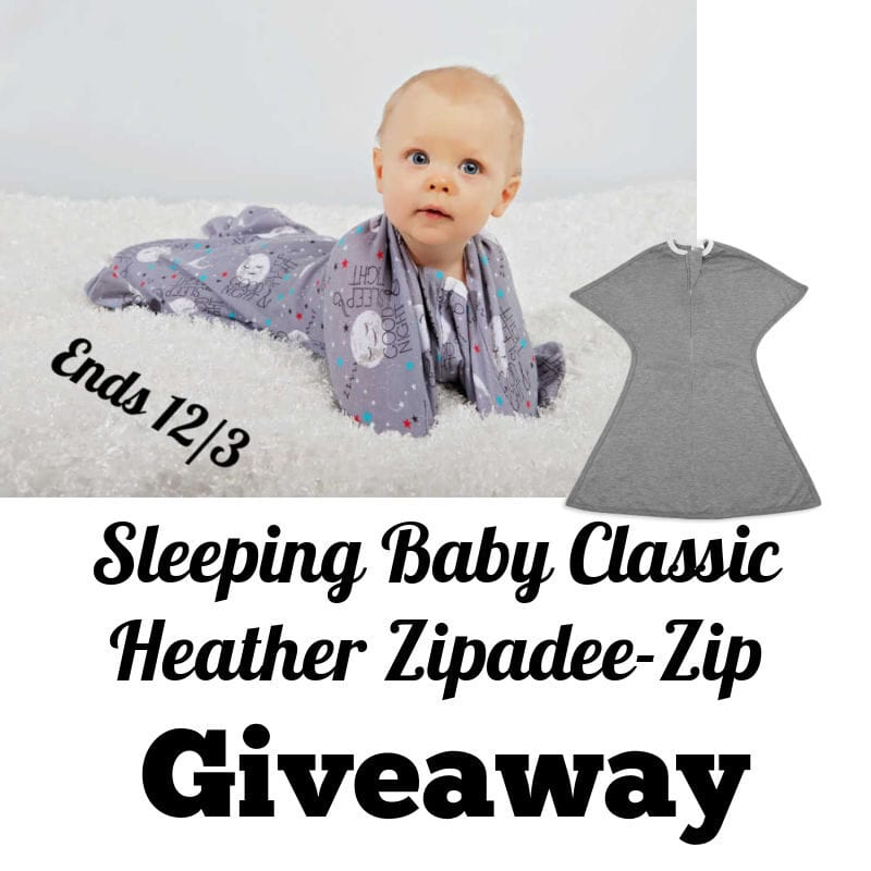 Enter the @SleepingBabyInc Classic Heather Zipadee-Zip #Giveaway Ends 12/3 @las930