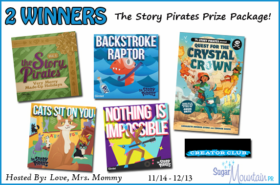 The Story Pirates Prize Package #Giveaway 2 Winners! Ends 12/14