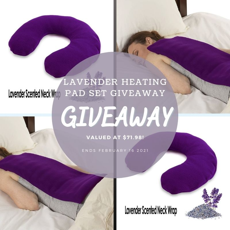 Lavender Heating Pad Set by @SunshinePillows #Giveaway Ends 2/16 @HomeJobsByMom
