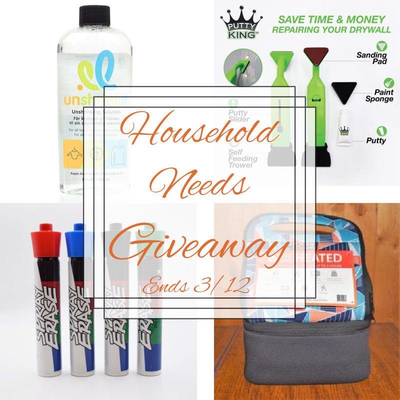 Household Needs #Giveaway 3 Winners Ends 3/12 @LavaLunch @sprayerase @getputtyking @las930