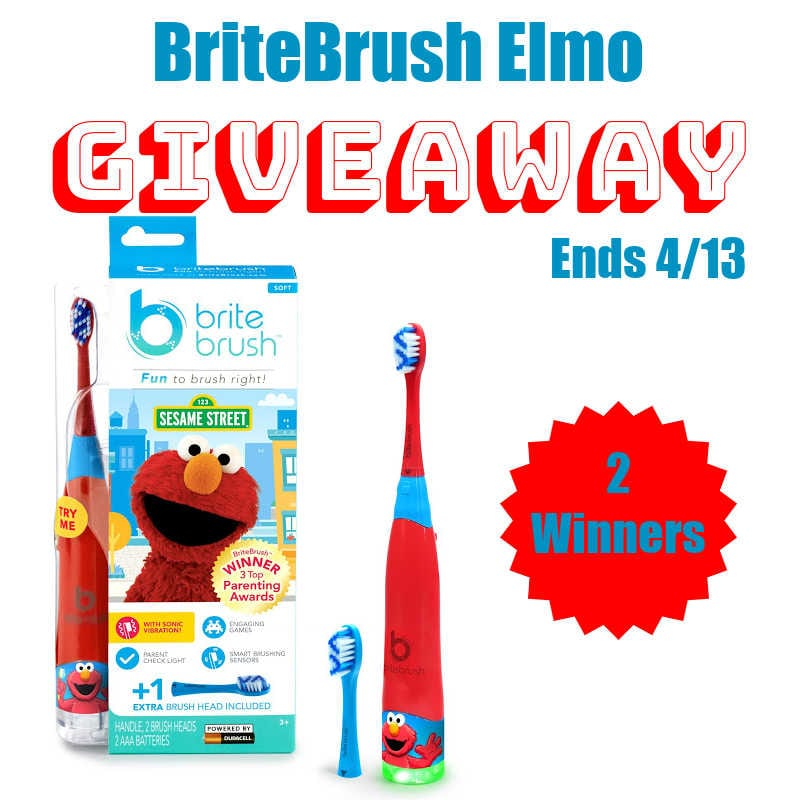 BriteBrush Elmo #Giveaway 2 Winners Ends 4/13 @las930