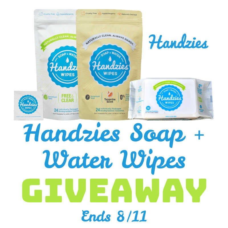 Handzies Soap and Water Wipes #Giveaway Ends 8/11 @las930