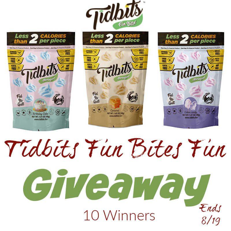 Tidbits Fun Bites Fun #Giveaway 10 Winners End 8/19 @las930