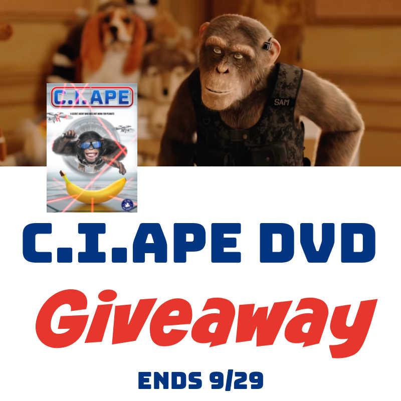 C.I.Ape DVD #Giveaway 2 Winners Ends 9/29 @las930 @Lionsgate
