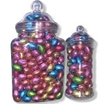 Chocolate Foil Eggs Jars - The Candy Cabin Traditional Online Sweet Shop