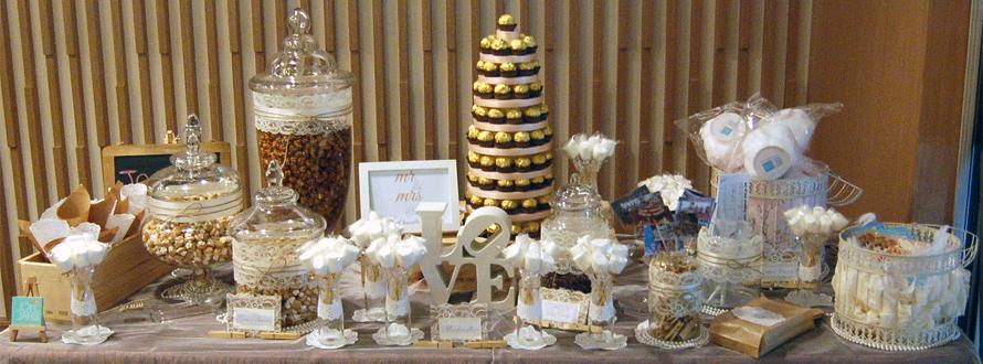JOandJARS_CandyBuffet_Wedding_Vintage_White_Brown_Twine_PanPacificOrchard