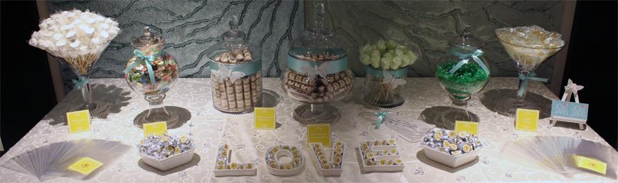JOandJARS_CandyBuffet_Wedding_MHotel_BanquetSuite_Yellow_Green_White_Garden