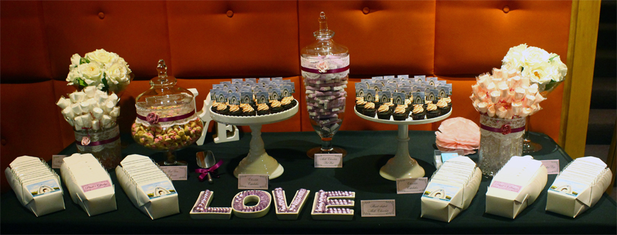 JOandJARS_CandyBuffet_WeddingDinner_Marriott_Purple_Pink