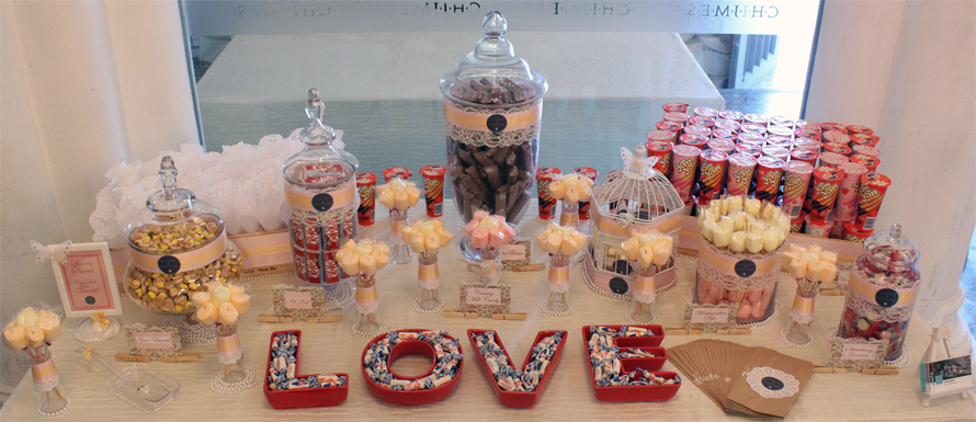 JOandJARS_CandyBuffet_Wedding_CHIJMES_Pink_Yellow_Peach_Red_Brown