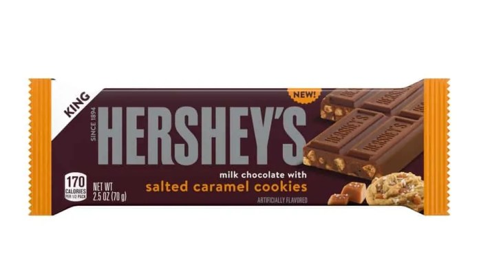 Hershey's Milk Chocolate With Salted Caramel Cookies