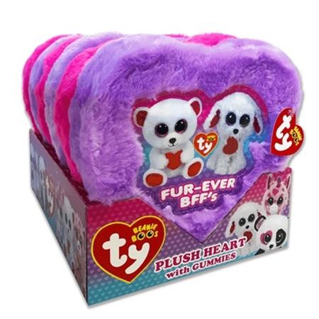 Beanie Boo Plush Heart Box With Gummies Valentine Gummies