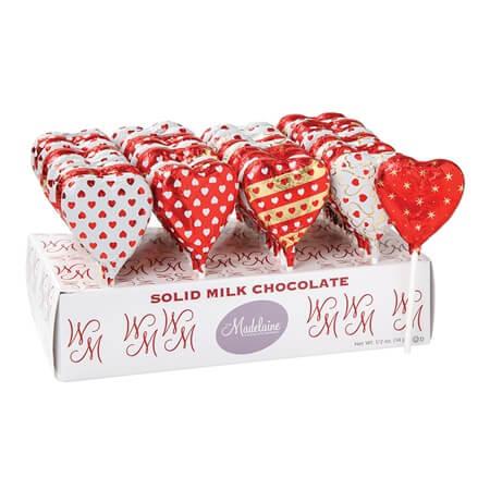 Valentine Heart Chocolate Pops Valentine Candy