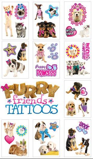 Furry Friends Vending Tattoos - Vending Machine Refills