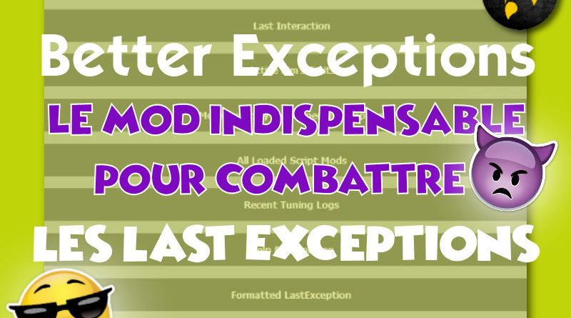 mod better exceptions sims 4