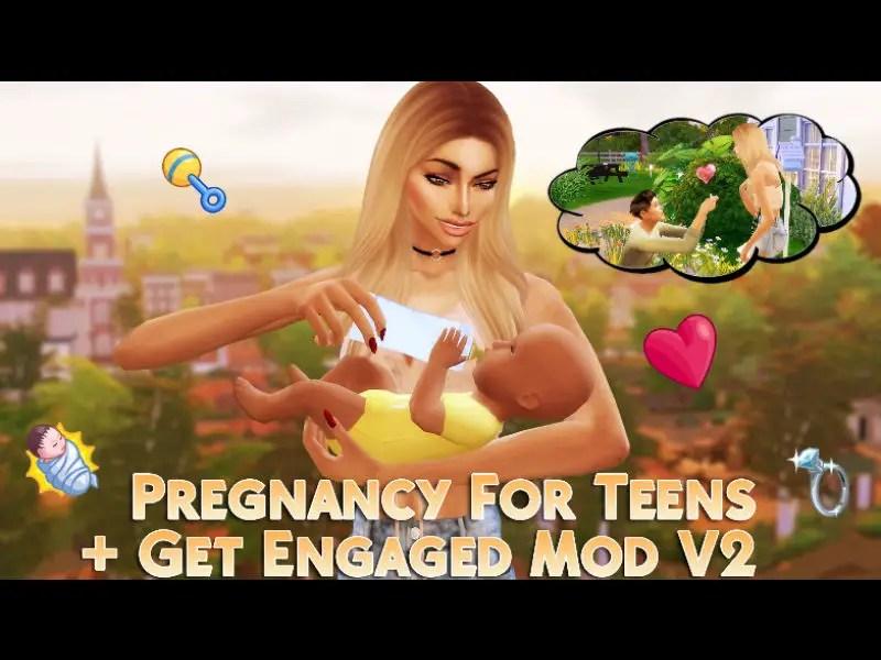 ▷ Mod Grossesse chez les Adolescentes + Fiançailles V2 par Msqsims