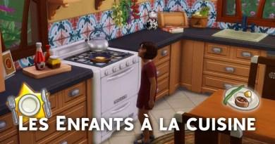 Les enfants à la cuisine