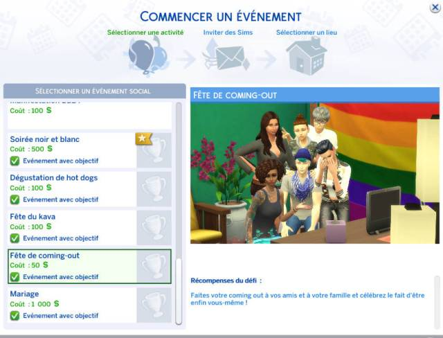 LGBT mod for the Sims 4