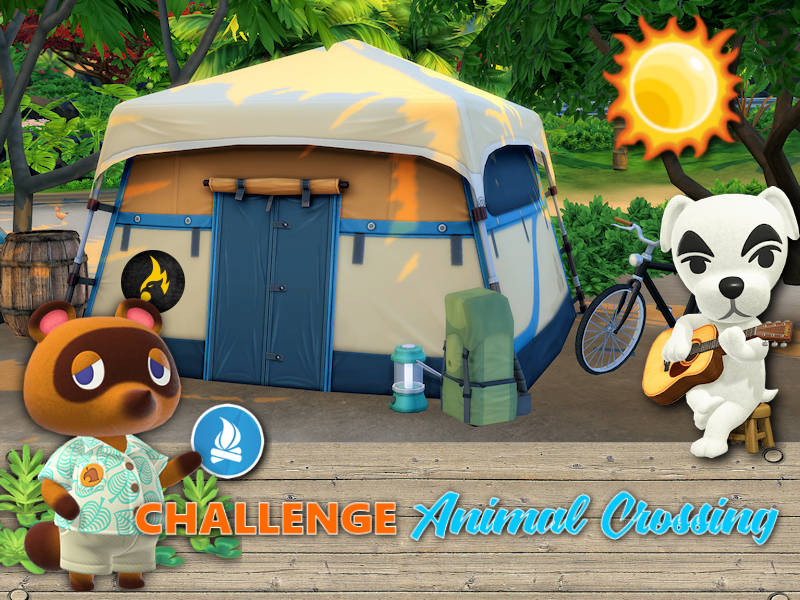 ▷ Challenge Animal Crossing Sims 4