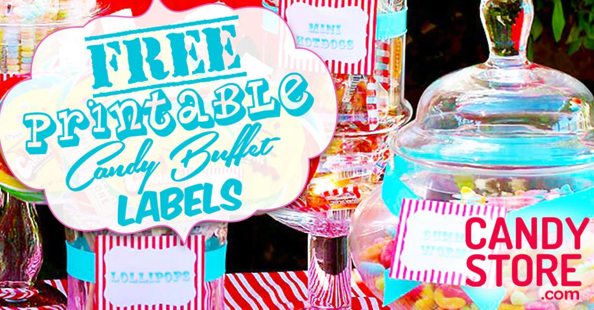 12 Customizable Candy Buffet Labels Candystore Com