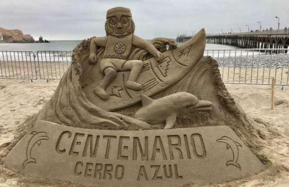 Cañete celebró su 465 aniversario con concurso de esculturas de arena en playa Cerro Azul