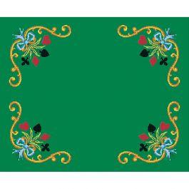 kit de tapis de jeux a broder luc creations cartes fleuries