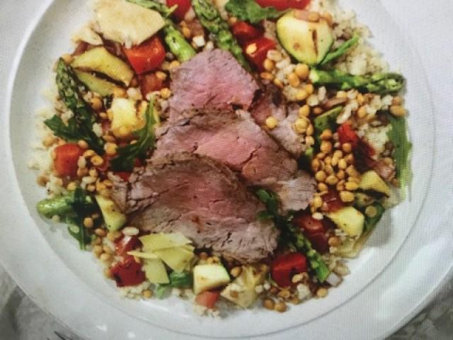 Beef & Lentil Salad Recipe